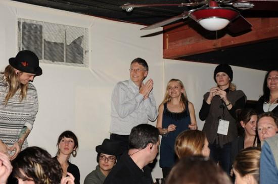Bill Gates awkward at a party