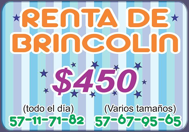 RENTA DE BRINCOLIN