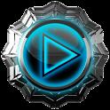 3D Mega Blue poweramp skin apk