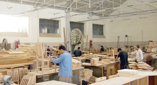 A furniture factory under the supervision of skilled craftsmen