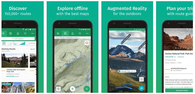 ViewRanger Best off-road GPS apps for android and ios iPhone in 2021