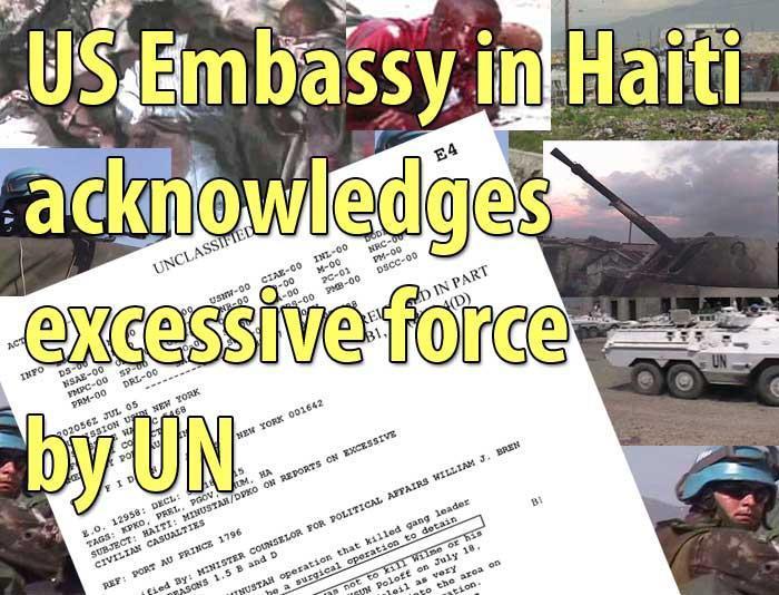 Image result for un attacks citesoleir 2004 haiti photos