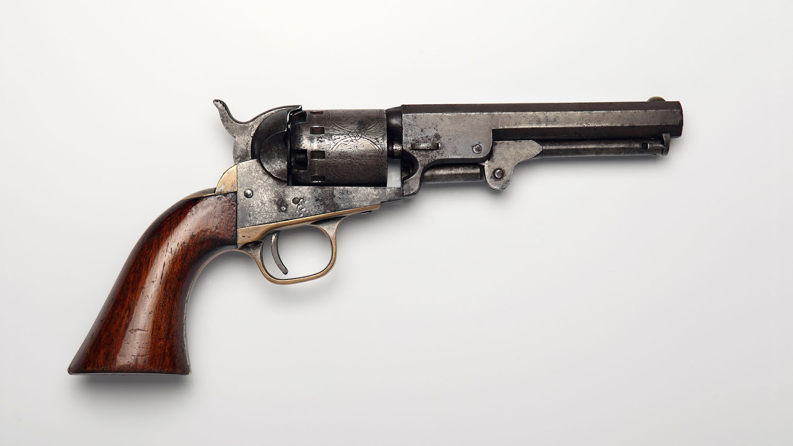 vintage revolver with short barrel