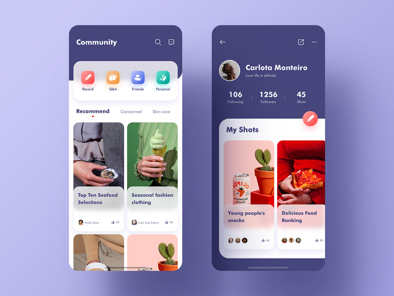 E-commerce community exchange APP e-commerce community exchange of experience social contact interface design illustrations ux icon ui