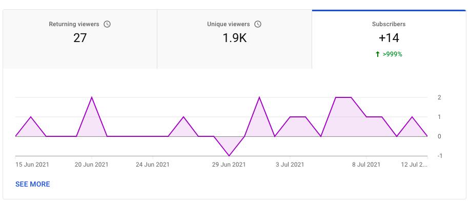 YouTube subscribers metric