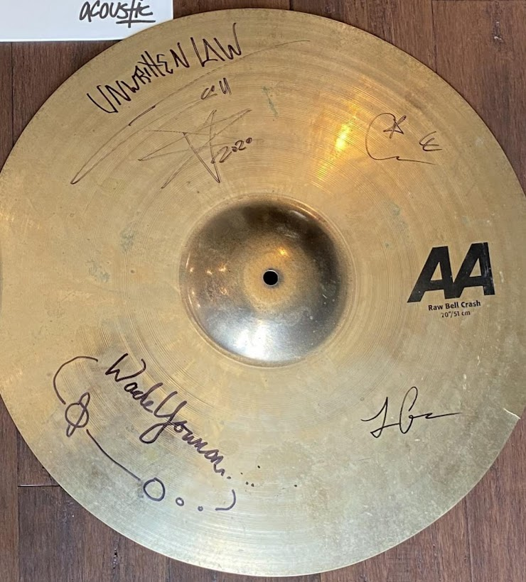A Signed drumhead