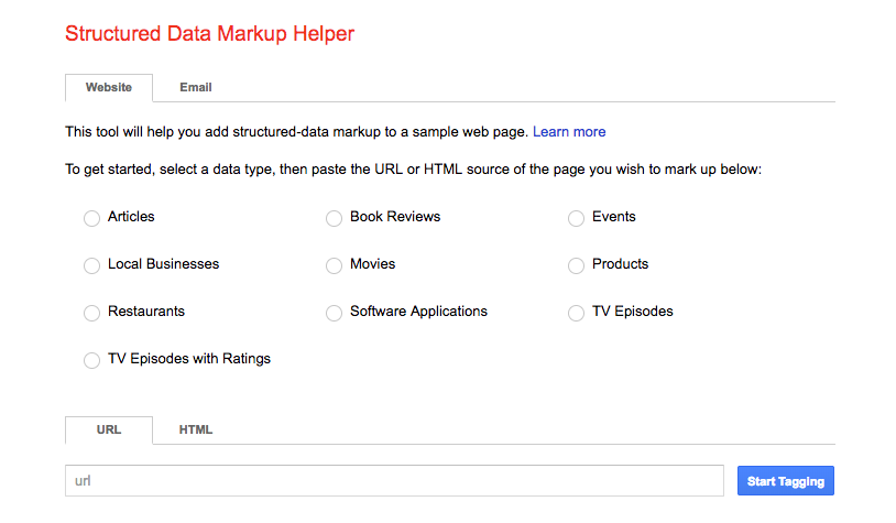 Structured Data Markup Helper per Ecommerce Mobile