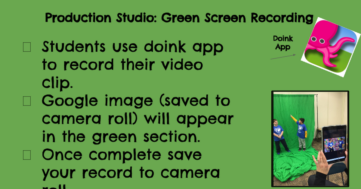 Green Screen - Google Slides