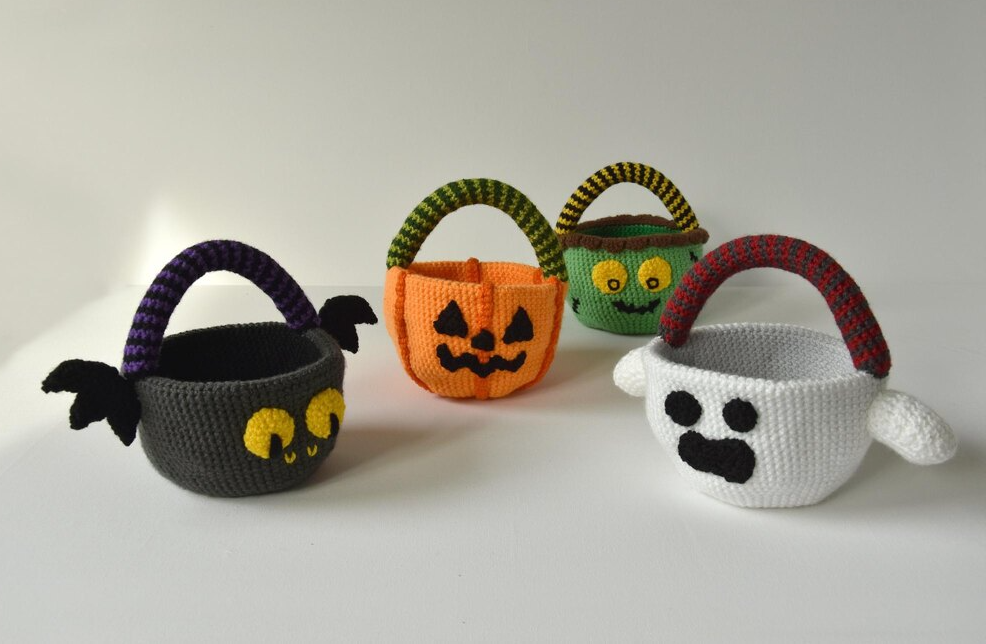 Crochet Trick or Treat Candy Baskets
