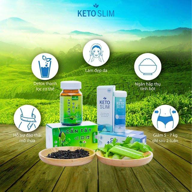 Công dụng Viên sủi giảm cân Keto Slim