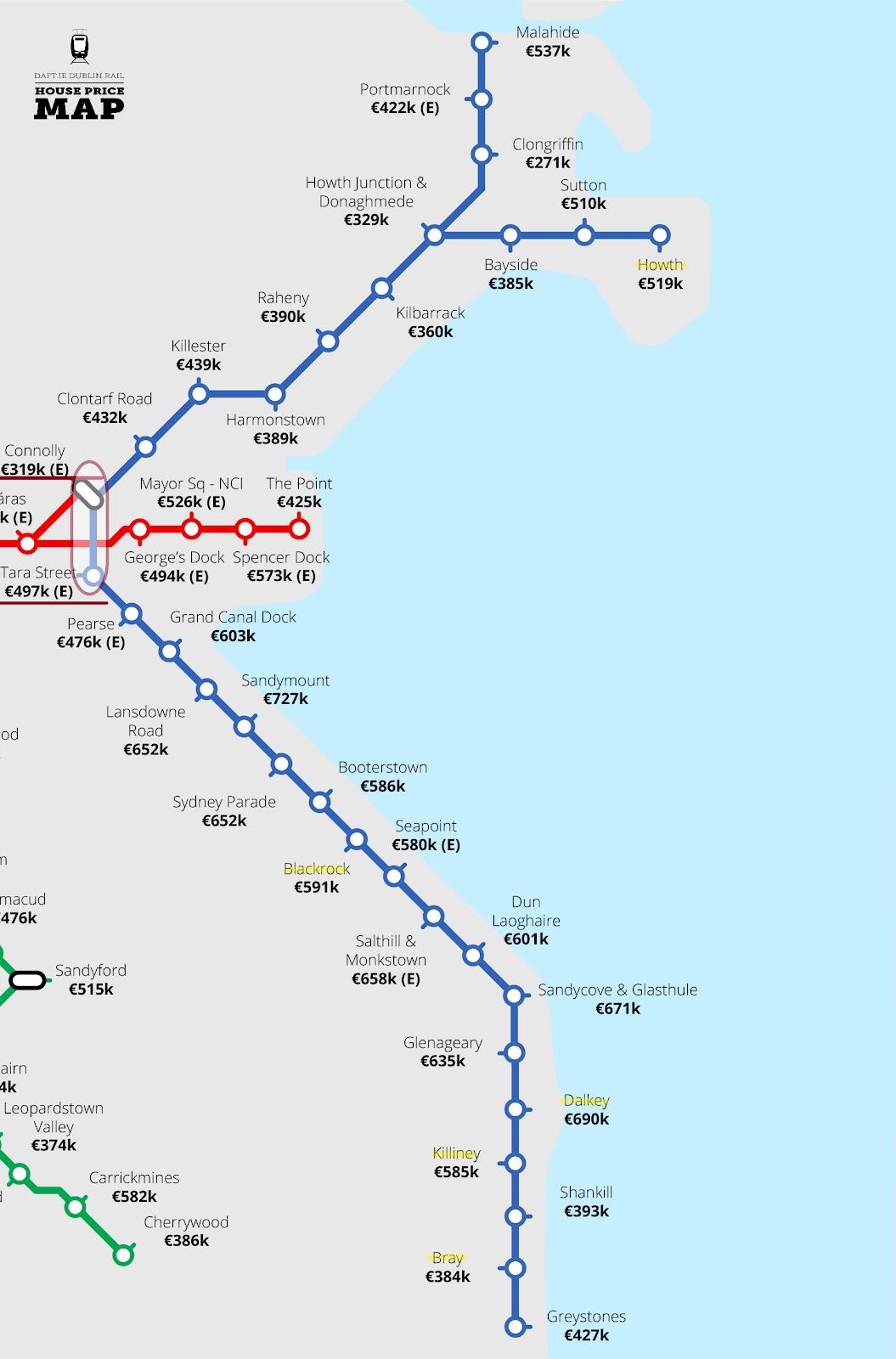 愛爾蘭打工遊學打工度假火車路線圖2020
