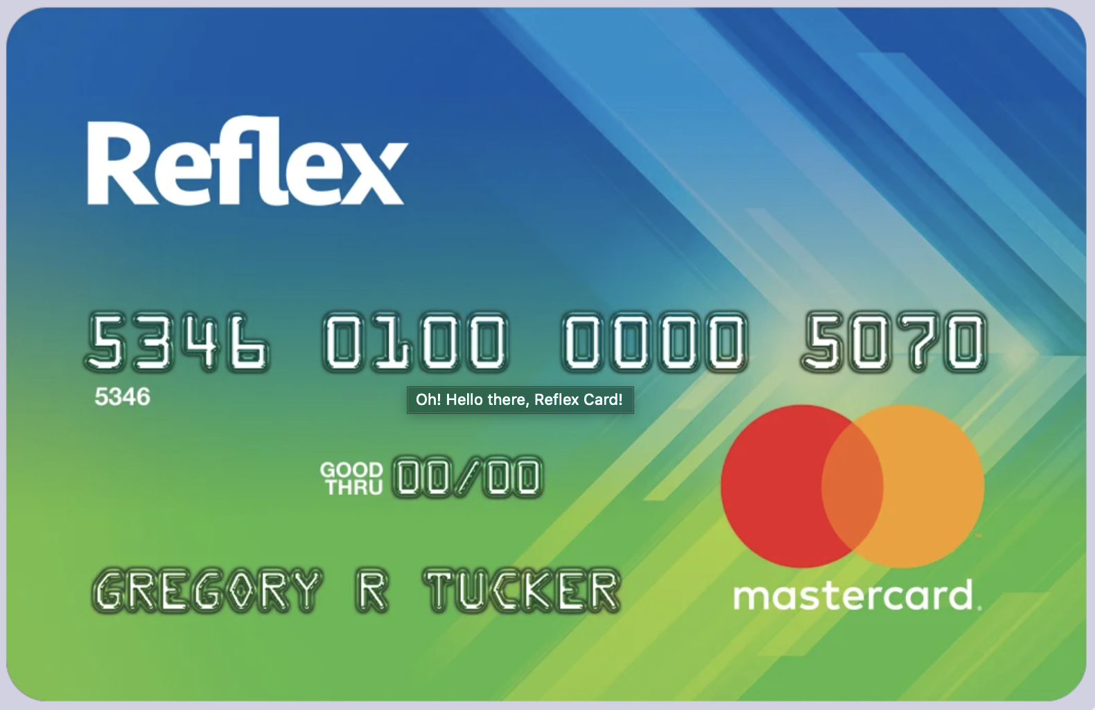 Reflex Card Through Continental Finance/ Celtic Bank