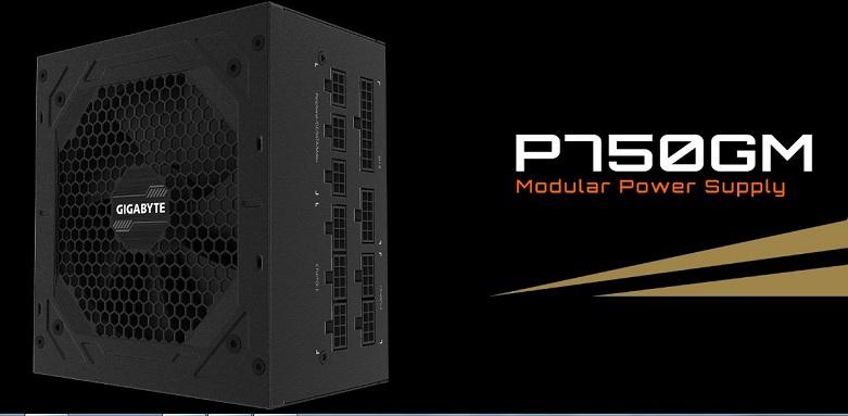 Power Gigabyte GP-P750GM 750W 80 Plus Gold Modular | Thiết kế hoàn toàn hiện đại