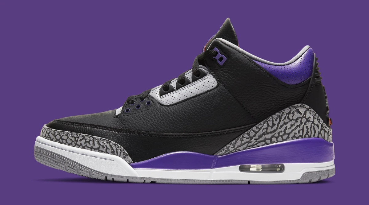 Air Jordan 3 Retro 'Court Purple,' Style Code: CT8532-050