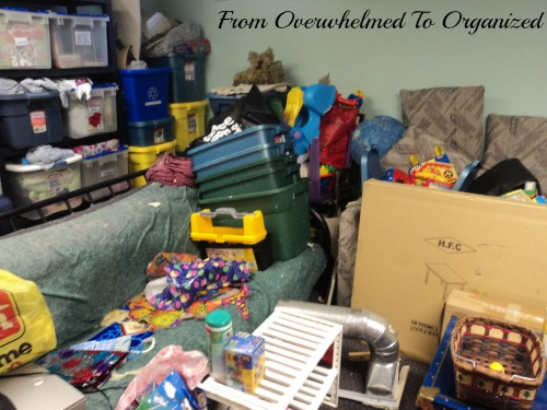 Picture of a cluttered basement