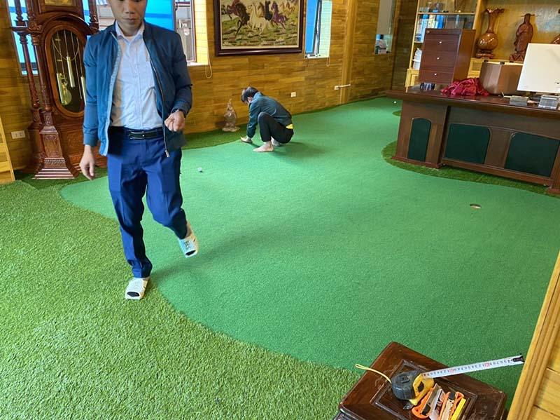 Star Golf Group thi công thảm - lồng tập tại nhà