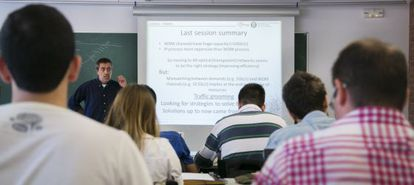 A class delivered in English at Catalonia's Polytechnic University (UPC).