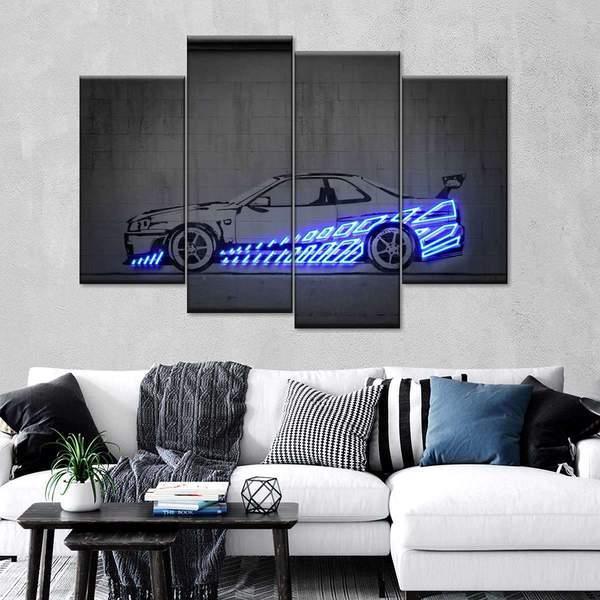 Skyline R34 Multi Panel Canvas Wall Art