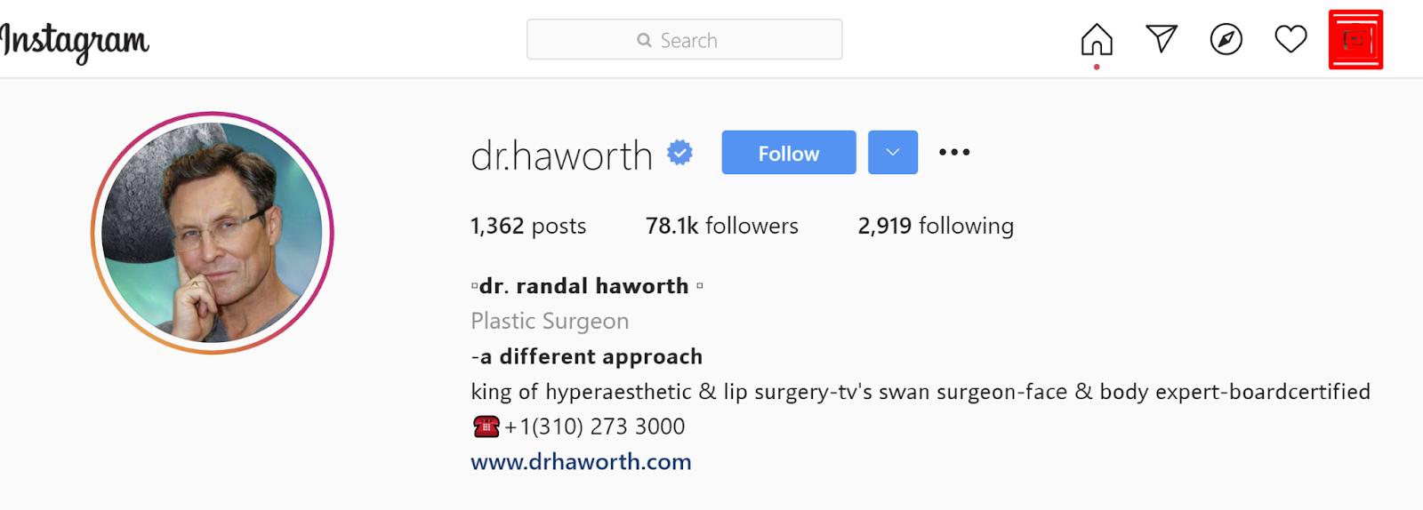 @dr.haworth Instagram
