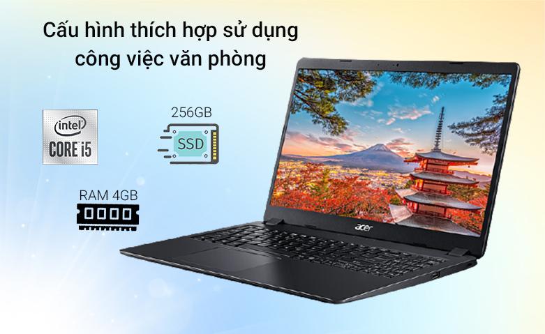 Laptop ACER Aspire 3 A315-56-502X (NX.HS5SV.00F)  | cấu hình mạnh mẽ