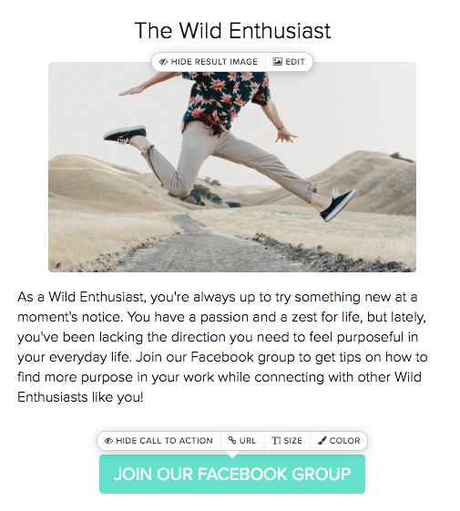 Wild Enthusiast quiz results