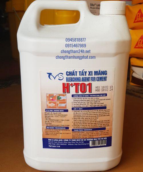 Chất Tẩy xi măng HT01 - chất làm sạch nền, tẩy xi măng - Sika Vật liệu  chống thấmUy tín - Giá rẻ