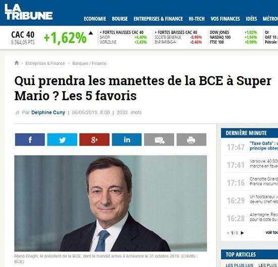 La Tribune Qui prendra les manettes de la BCE