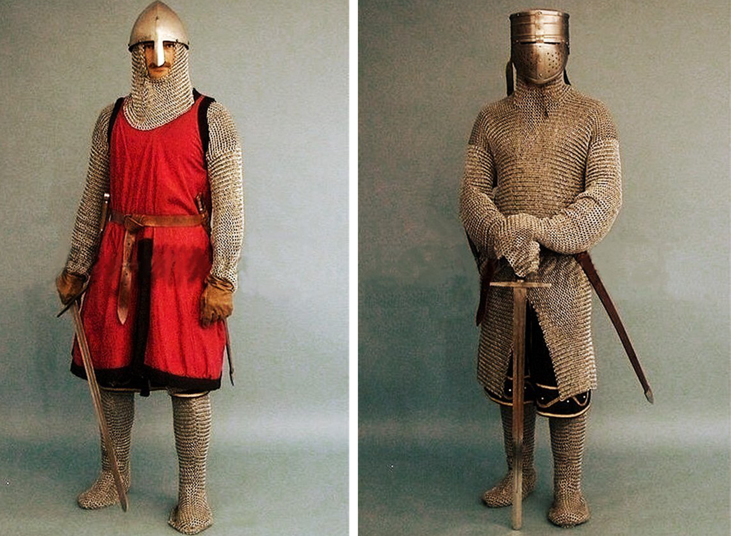 knights in leather gauntlets and muffers