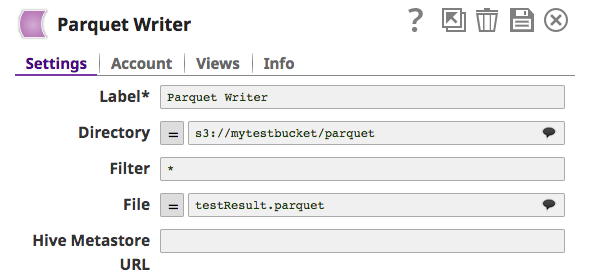 Parquet Writer - SnapLogic Documentation - SnapLogic Documentation