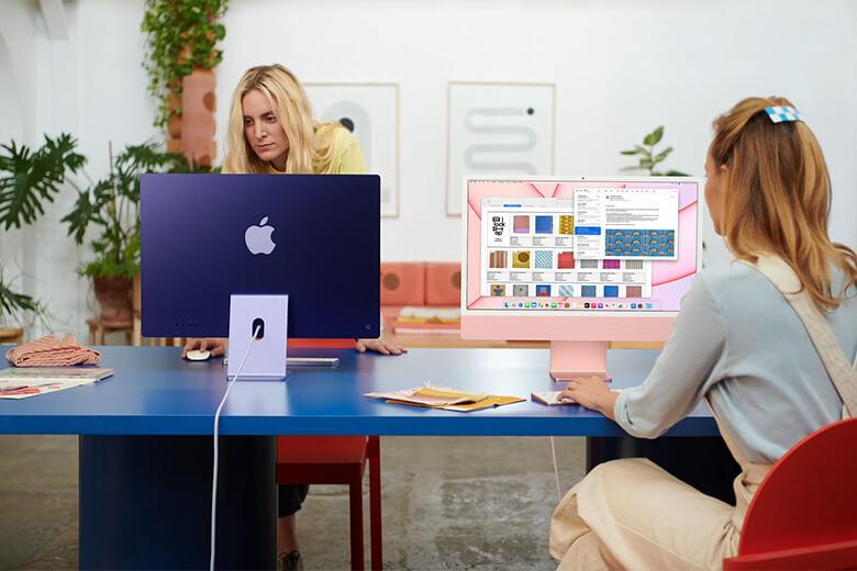 iMac 24-inch 2021 M1 512GB (Màn hình 4.5K/8 Core CPU/8 Core GPU) Chính hãng