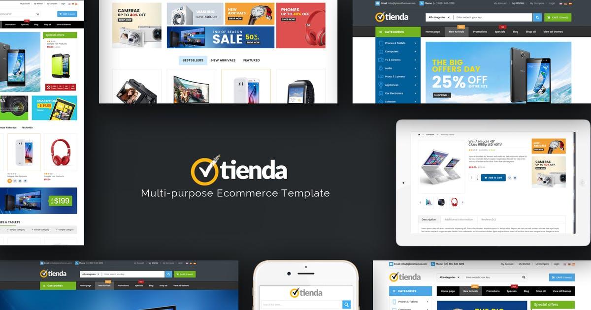 Tienda - Responsive Technology Prestashop Theme Free Download