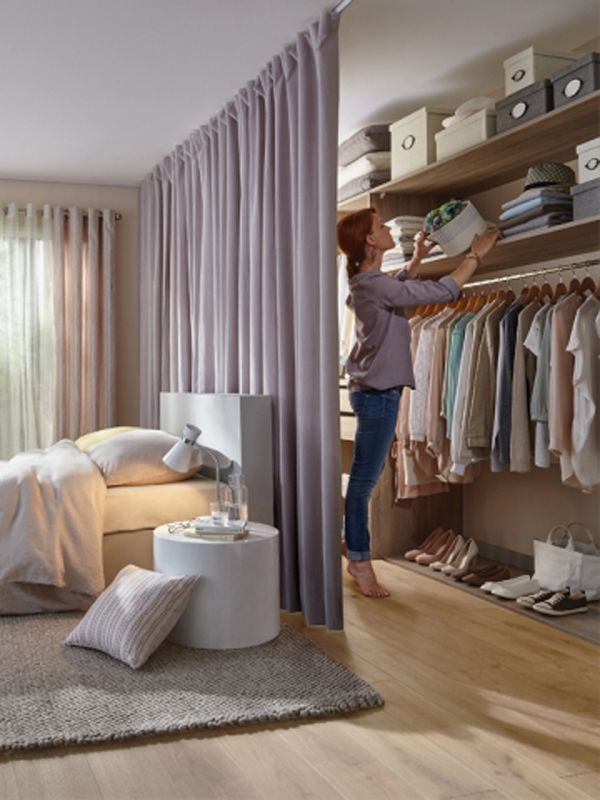 Cozy Separated Bedroom with Curtains