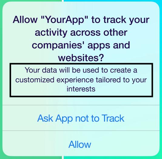 iOS 14 ATT prompt