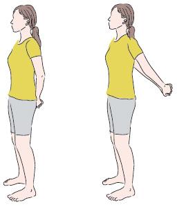 動作一:平肩運動