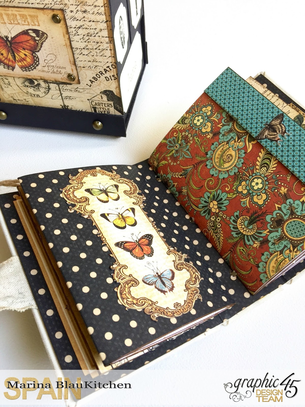 Album Binding Olde Curiosity Shoppe Tutorial by Marina Blaukitchen Product by Graphic 45 photo 11.jpg