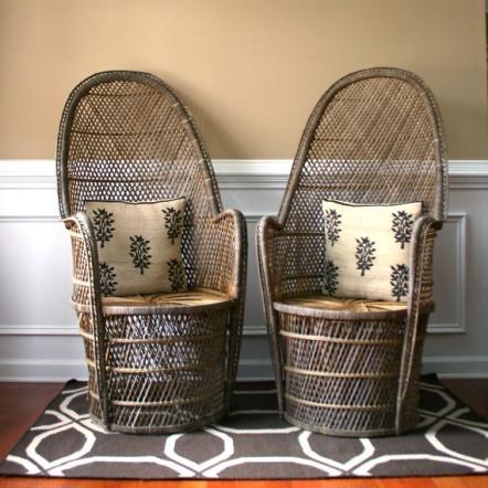 Pair High Fan Back Chairs. Throne Chairs. Armchair. Rattan…   Flickr