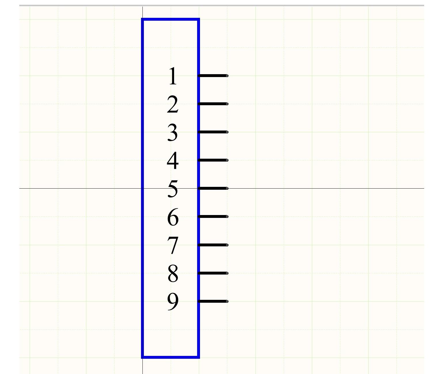Figura 2: Símbolo esquemático de un conector