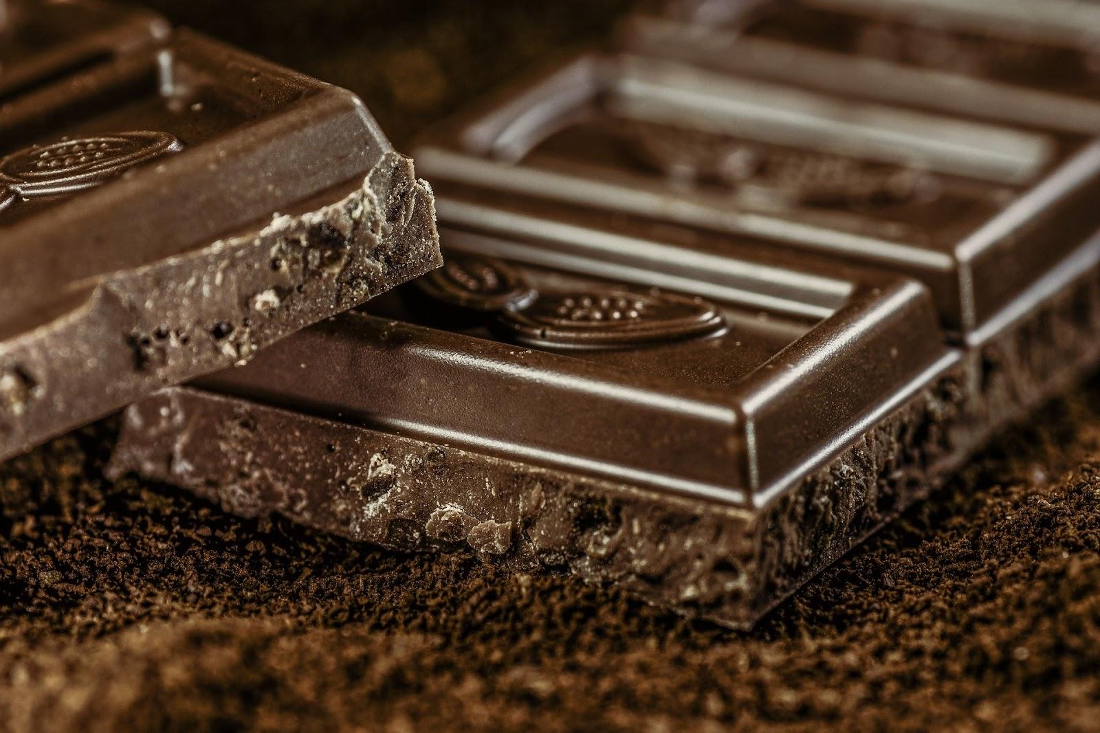 bitter chocolate bar