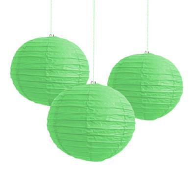 Discount Party Supplies Paper Lantern 20cm - Green