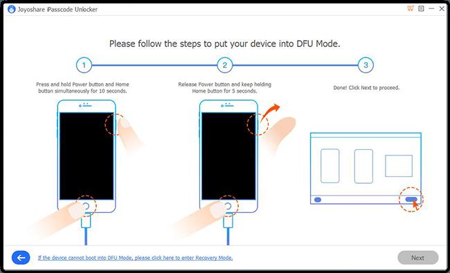 put iphone into DFU mode win
