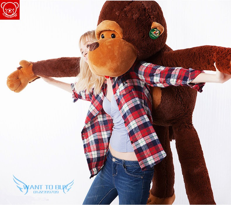 free gift 110cm big mouth monkey plush toy stuffed toys fashion lovely 11street malaysia. Black Bedroom Furniture Sets. Home Design Ideas