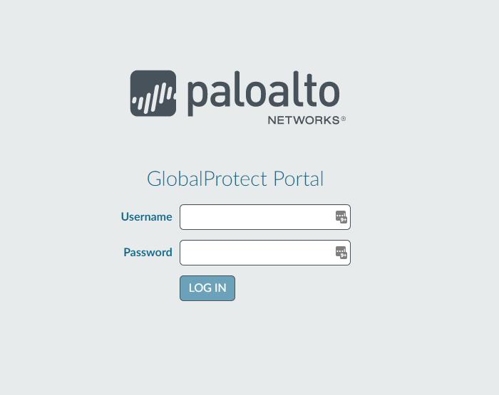 Login screen for Palo Alto