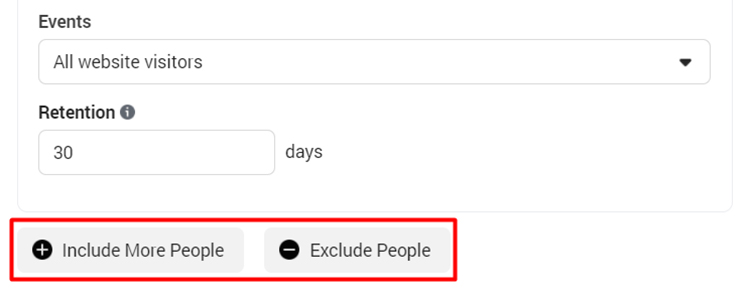 exclude and include people