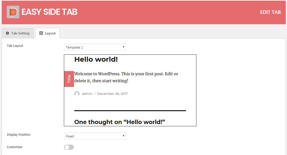 cta easy side tab wordpres tab