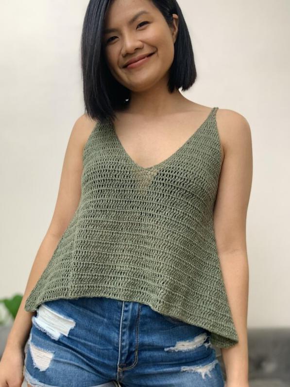 Relaxed Fit Tank Top Crochet Pattern