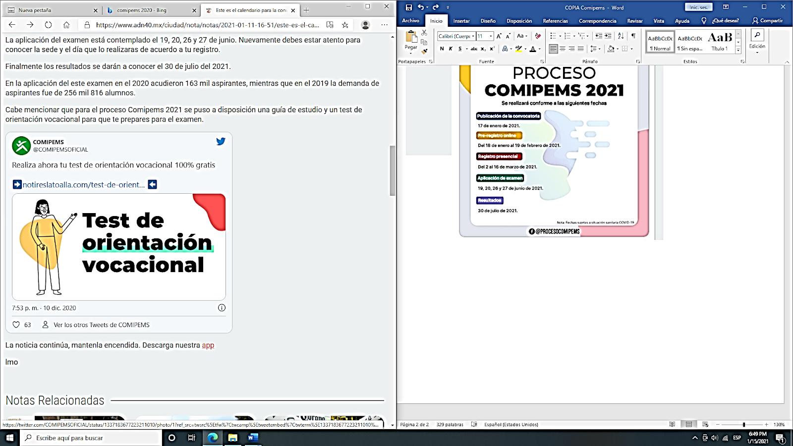 Registro de Comipems: Fechas y requisitos de acceso 3