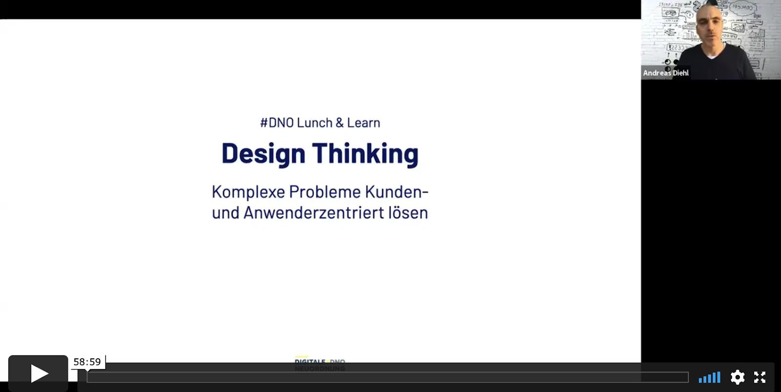 Einführung in die Design Thinking Methode - Aufzeichnung #DNO Lunch & Learn