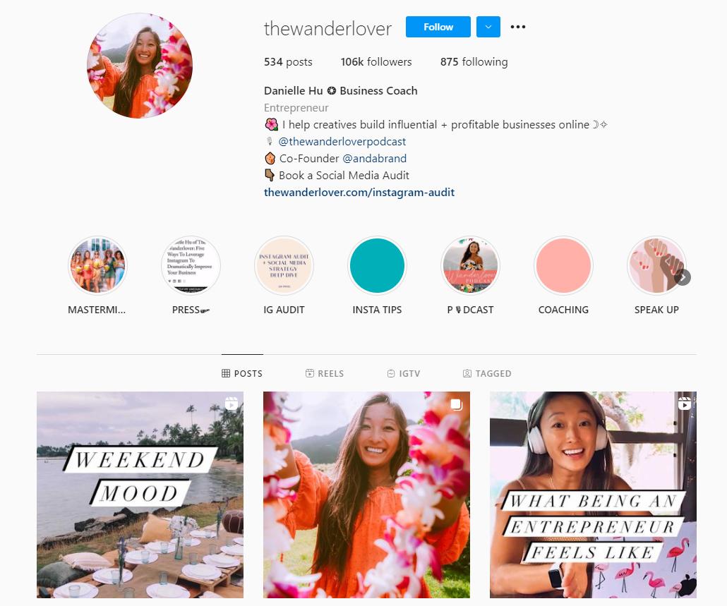 Danielle Hu Instagram profile