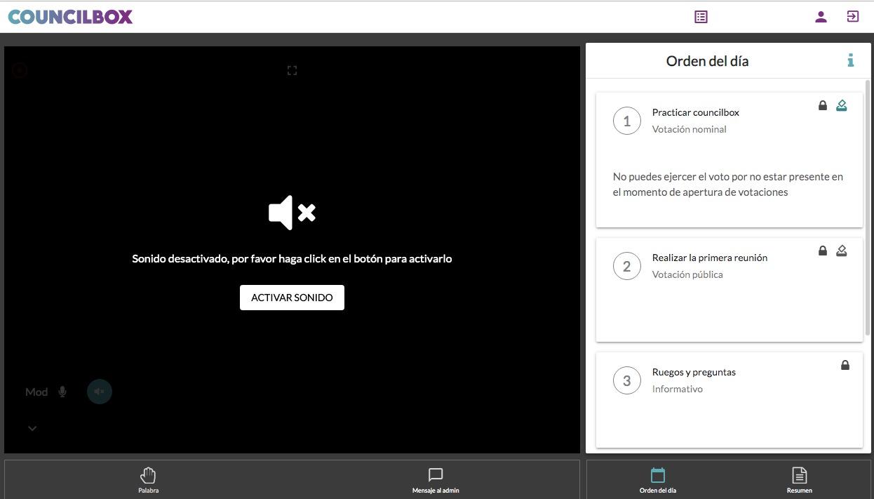 Activar y desactivar vídeo