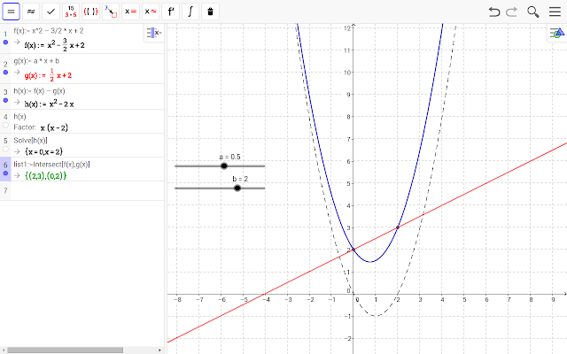 GeoGebra Math Apps chrome extension